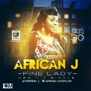 AfriKan J fine lady artwork