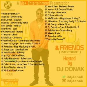 DAF Tracklist
